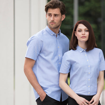 Henbury  Modern Short Sleeve Oxford Shirt