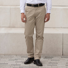 Load image into Gallery viewer, Henbury 65/35 Flat Fronted Chino Trousers