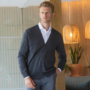 Henbury V-button Cardigan