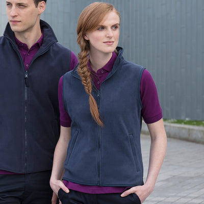 Henbury Womens Sleeveless Microfleece Jacket
