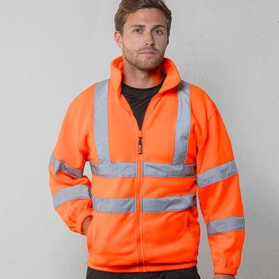 Rty High Viz High Visibility Full Zip Fleece