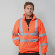 Load image into Gallery viewer, Rty High Viz High Visibility Full Zip Fleece