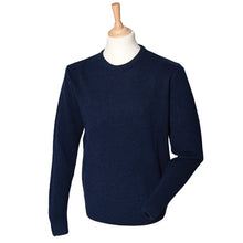 Load image into Gallery viewer, Henbury Crew Neck Lambswool Jumper