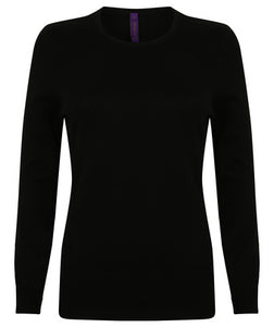 Henbury  Womens Crew Neck Jumper