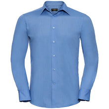 Load image into Gallery viewer, Russell Collection Long Sleeve Polycotton Easycare Fitted Poplin Shirt