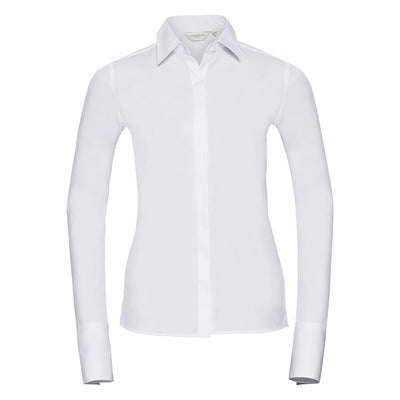 Russell Collection Womens Long Sleeve Ultimate Stretch Shirt
