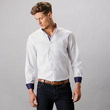 Load image into Gallery viewer, Kustom Kit Contrast Premium Oxford Shirt (button Down Collar) Long Sleeve