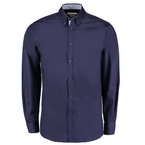 Kustom Kit Contrast Premium Oxford Shirt (button Down Collar) Long Sleeve