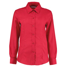 Load image into Gallery viewer, Kustom Kit Womens Workplace Oxford Blouse Long Sleeved