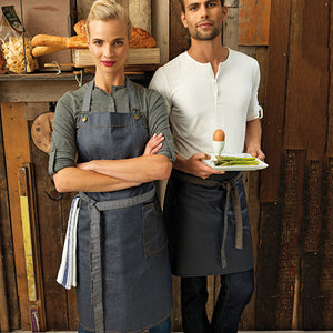 Premier  District Waxed-look Denim Bib Apron
