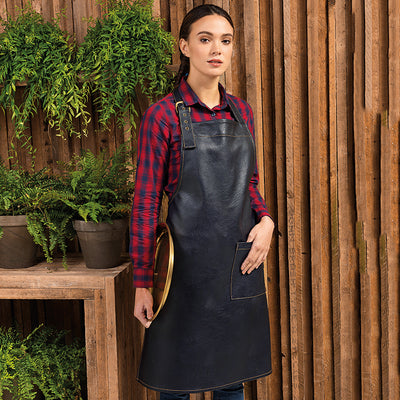 Premier  Faux Leather Bib Apron