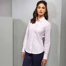 Load image into Gallery viewer, Premier  Womens Cotton-rich Oxford Stripes Blouse