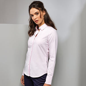 Premier  Womens Cotton-rich Oxford Stripes Blouse