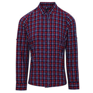 Premier  Womens Sidehill Check Cotton Long Sleeve Shirt
