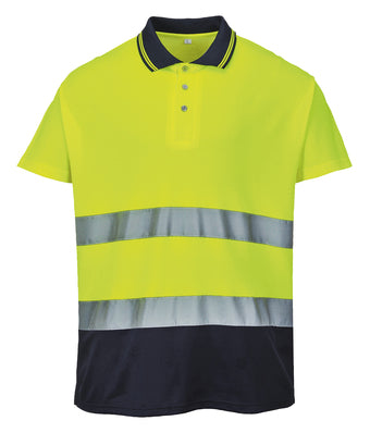 Portwest  Hi-vis Two-tone Cotton Comfort Polo Shirt (s174)