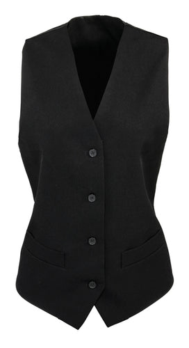 Premier Womens Lined Polyester Waistcoat