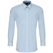 Load image into Gallery viewer, Premier  Colours Poplin Fitted Long Sleeve Shirt