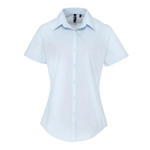 Premier Womens Supreme Poplin Short Sleeve Shirt