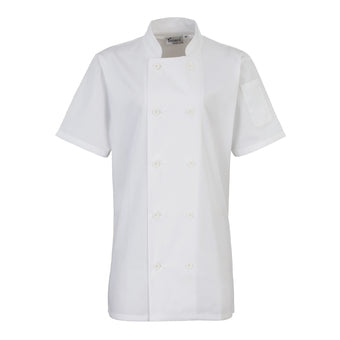 Premier Womens Short Sleeve Chefs Jacket
