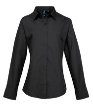 Load image into Gallery viewer, Premier Womens Supreme Poplin Long Sleeve Shirt