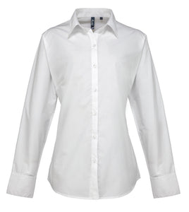 Premier Womens Supreme Poplin Long Sleeve Shirt