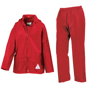 Result Junior Heavyweight Waterproof Jacket/trouser Suit