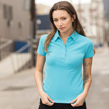 Load image into Gallery viewer, Sf Womens Short Sleeve Stretch Polo