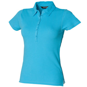 Sf Womens Short Sleeve Stretch Polo