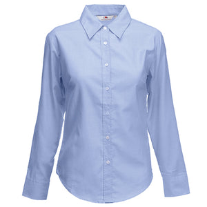 Fruit of the Loom Lady Fit Long Sleeve Oxford Shirt