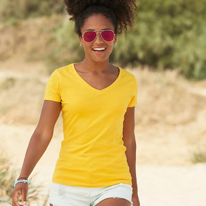 Fruit Of The Loom Lady-fit Valueweight V-neck Tee
