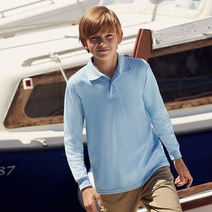 Fruit Of The Loom Kids Long Sleeve 65/35 Polo