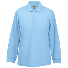 Load image into Gallery viewer, Fruit Of The Loom Kids Long Sleeve 65/35 Polo