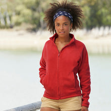 Load image into Gallery viewer, Fruit of the Loom Lady-Fit Full Zip Fleece