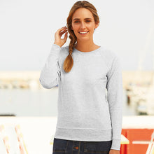 Load image into Gallery viewer, Fruit Of The Loom Lady-fit Lightweight Raglan Sweatshirt