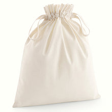 Load image into Gallery viewer, Westford Mill Organic Cotton Drawcord Bag