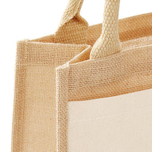 Load image into Gallery viewer, Westford Mill  Cotton Pocket Jute Gift Bag