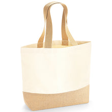 Load image into Gallery viewer, Westford Mill  Jute Base Canvas Tote