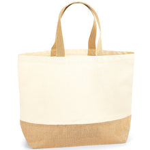 Load image into Gallery viewer, Westford Mill  Jute Base Canvas Tote Xl