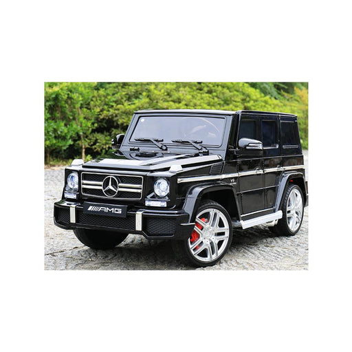 Licensed Mercedes G63 12v Electric Ride on Jeep with Remote - Black - Openable Doors