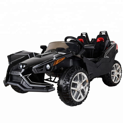 Polaais Style 12V Kids Ride on Car ATV Buggy with Parental Remote - Black