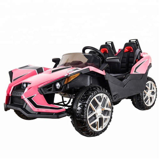 Polaais Style 12V Kids Ride on Car ATV Buggy with Parental Remote - Pink