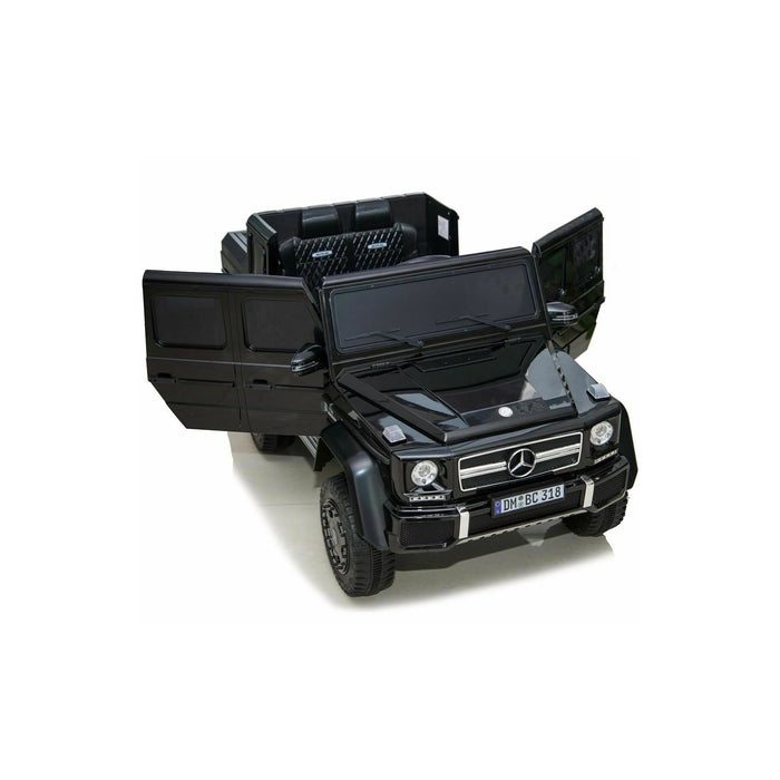 Licensed Mercedes G63 24V Electric Ride on Car 6x6 Jeep with Remote Control - Black