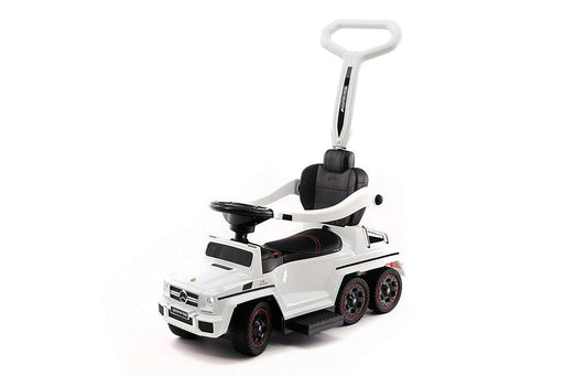 Licensed Mercedes G63 Multi-Function Foot to Floor Ride on Kids Car - White