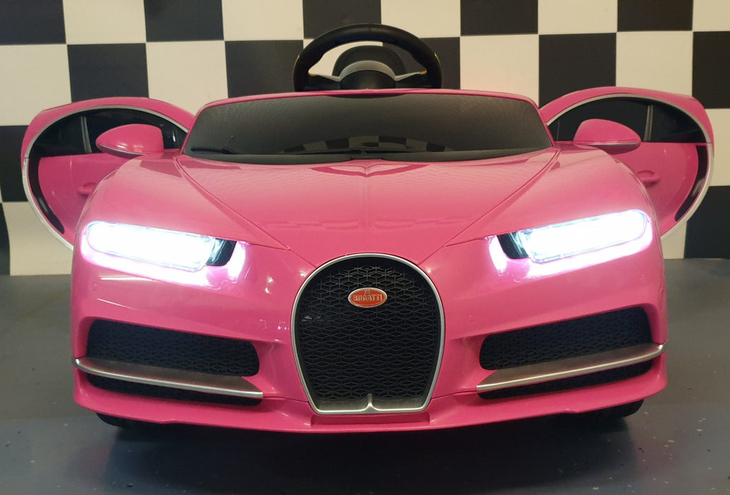 Licensed Bugatti Chiron 12V Ride on Kids Electric Car With Remote Control - Pink