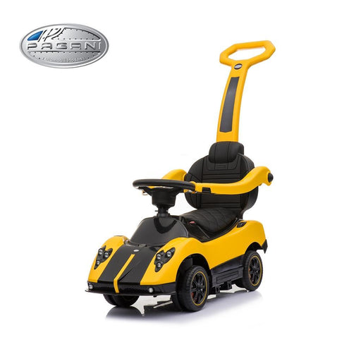 Licensed Pagani Zonda Multi-Function Foot to Floor Ride on Kids Car - Yellow