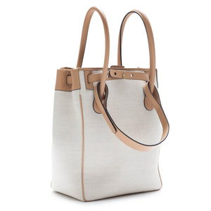 RODO BUCKET LINEN AND LEATHER BUCKET HANDBAG