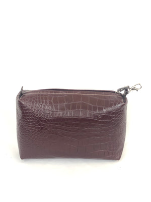 EMBOSSED LEATHER MEDIUM BAG - 2 COLOR OPTIONS