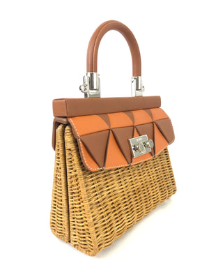 RODO WILLOW AND LEATHER SMALL HANDBAG