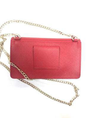LANCASTER SMALL ENVELOPE CROSSBODY BAG - RED