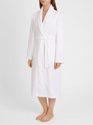 DEREK ROSE TRITON 10 WOMEN'S ROBE - WHITE